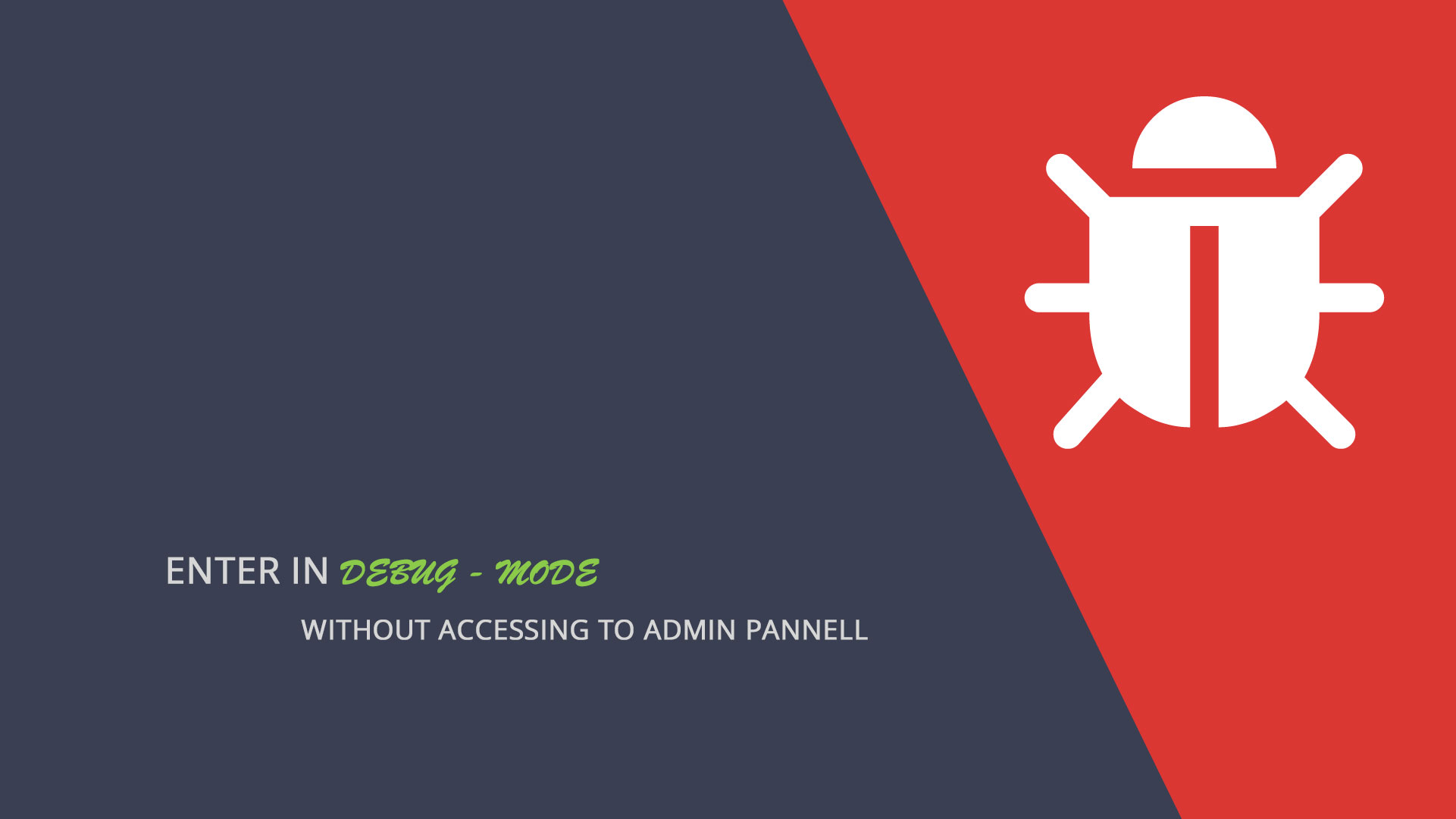 Prestashop 1 7 1 | Enter in debug mode without entering in admin