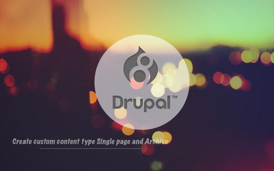 Drupal 8 | Create custom content type templates Single page